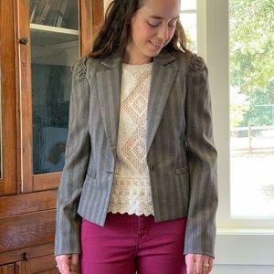 development Brown/Grey Blazer, Size 4